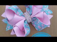 🎀Laço Chicachicó❣ ❣By Tathy Lima❣ - YouTube Diy Bow, Diy Ribbon, Ribbon Bows, Ribbons, Pink Hair Bows, Hair Bow Tutorial, Boutique Hair Bows, Making Hair Bows, Diy Headband