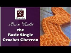How to crochet the single crochet chevron stitch with link to video tutorial