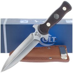 Colt CT225 Large Boot Knife w/ Leather Sheath | MooseCreekGear.com | Outdoor Gear — Worldwide Delivery! | Pocket Knives - Fixed Blade Knives - Folding Knives - Survival Gear - Tactical Gear