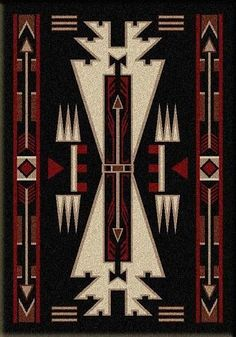 American Dakota Textiles Voices Collection: Horse Thieves Rectangle Rugs