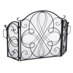 Shop Christopher Knight Home Kingsport Fireplace Screen - On Sale - Overstock - 9573632 - Gold Flower on Black Metal Fireplace, Fireplace Screens, Fireplace Guard, Decorative Fireplace, Fireplace Ideas, Fireplace Design, Fireplace Accessories, Scroll Design, Home Decor Outlet