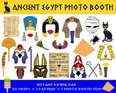 PRINTABLE Ancient Egypt Photo Booth por HappyFiestaDesign en Etsy
