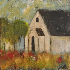 Kendall Boggs Fine Arts and Crafts Barn Paintings, Paintings I Love, Autumn Painting, Diy Painting, Canvas Designs, Chapelle, Small Art, Chalkboard Art, Palette Knife