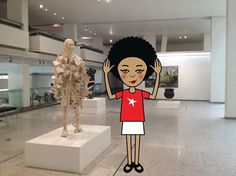 Loving the Wits Art Museum! I've been copying all the statues haha! #zibu #heritagemonth #southafrica http://tinyurl.com/ltq3xpz