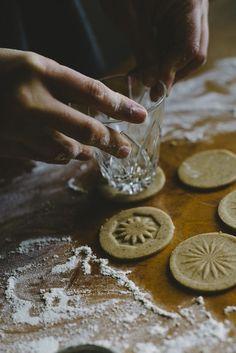Impresión en galletas con vasos antiguos.