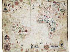 17th Century Nautical Map of the Atlantic Posters by Library of Congress at AllPosters.com