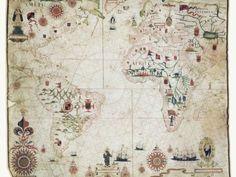 17. Jahrhundert Seekarte von dem Atlantik Fotodruck von Library of Congress bei AllPosters.de