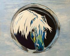 Giclee Animal Artwork, Horse Painting, Original Acrylic Art, Abstract Print, Equine Painting, Pet Lover, Equestrian Gift by JeannesJungle on Etsy