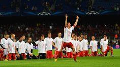 UEFA Champions League 2013 - Barcelona-Bayern Thoma Mueller leads the fan cheers