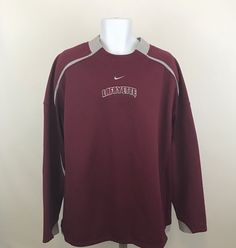 Nike Team Therma Fit Mens Shirt Size 2XL Lafayette College Pullover Long Sleeve #NikeTeam #ShirtsTops