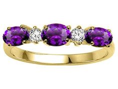 Tommaso Design(tm) Genuine Amethyst and Diamond 3 Stone Band LIFETIME WARRANTY Tommaso design Studio. $469.99. Free High End Jewerly Box and Gift Packaging. Free Lifetime Warranty exclusively offered by Finejewelers. Certificate of Authenticity Included with this item. Guaranteed Authentic from the Tommaso design Studio designer line
