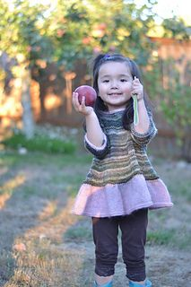 """Sweet and simple and super-swingy… The idea was to give that gauzy, """"tutu"""" feel while keeping this top modern and practical. Knitting For Kids, Baby Knitting, Crochet Baby, Knit Crochet, Knit Baby Dress, How Big Is Baby, Knitted Shawls, Top Pattern, Girly Things"""