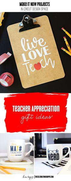 Cricut Teacher Appreciation Gifts with your Cricut | Designs & Tutorials @KimByers TheCelebrationShoppe.com