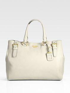 Prada Cervo Tote Bag - love this light grey color