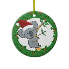 White Apple Gifts Australian animal Christmas decorations koala ...