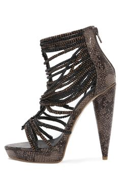 Jeffrey Campbell Shoes BEHATI Sandals in Brown Snake