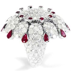 De Grisogono... Ring in white gold, diamonds and rubies. Photo courtesy press office