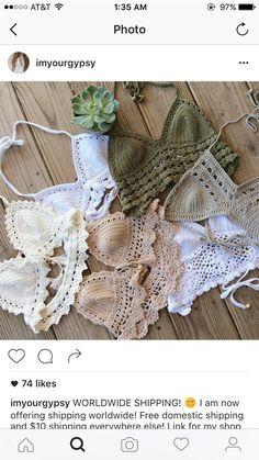 Crochet Feather, Crochet Yarn, Crochet Blouse, Crochet Bikini, Diy Bralette, Crochet Stone, Crochet Fashion, Handmade Clothes, Crochet Clothes