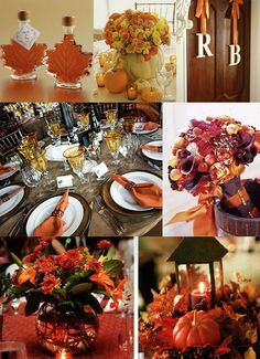 Rustic, Fall Wedding Inspirations. Throw In Some Ivory And Gold For A More  Elegant