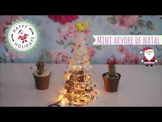 DIY: Mini Arvore de Natal com Cola Quente - FÁCIL - YouTube