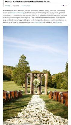 Nashville Destination Wedding at Cedarwood Featured on Style Me Pretty | Historic Cedarwood | All Inclusive Designer Weddings