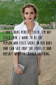 She accepts she's not perfect.