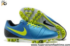 2013 Blue Yellow Black Nike CTR360 Maestri III AG Boots Store