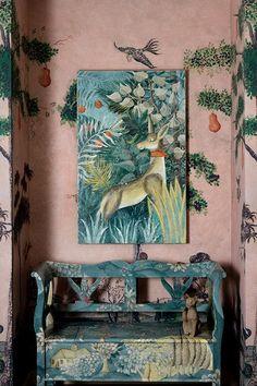 Inside Kit Kemp's colour-filled pop-up at Bergdorf Goodman A Kit Kemp interiors pop-up opens at Bergdorf Goodman, New York. Roman And Williams, New Fine Arts, Greek Design, Deco Boheme, Vogue Living, Hand Painted Furniture, Soft Furnishings, Folk Art, Furniture Design