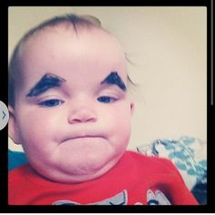 Fact: Babies Are 98% Funnier With Eyebrows