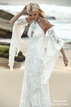 21 Boho Wedding Dresses to Blow Everyone Away | Kabuki Rune Bohemian Wedding Dresses, Boho Bride, Dream Wedding Dresses, Boho Dress, Bridal Dresses, Wedding Gowns, Lace Dress, Lace Wedding, Wedding Blog