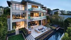 This $46M San Francisco Spec House Brings Outdoor Living to Every Room – Robb Report Outdoor Fire, Outdoor Living, Pacific Heights, San Francisco Houses, Expensive Houses, Water Ripples, Stunning View, Entry Doors, Home Decor Inspiration