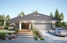Zdjęcie projektu Nela VI WRP1642 House Plans Mansion, Pool House Plans, Family House Plans, Modern House Plans, House Outside Design, House Front Design, Beautiful House Plans, Bungalow Renovation, Home Building Design