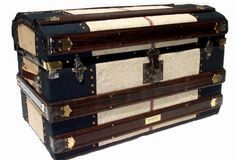 Antique Late 1800;s Round Top Trunk