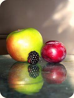 apple, plum, blackberry