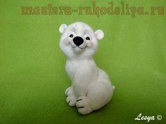 Мастер-класс по сухому валянию: Медвежонок Снежок