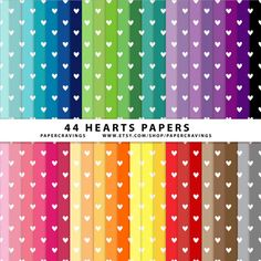Hearts Tiny Digital Paper Pack 12 x 12 Commercial by PaperCravings, $4.00