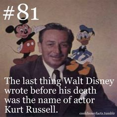 His reasons for writing this is a mystery to everyone, including Kurt Russell.  Requested bymydisneywish