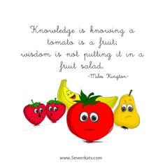 Knowing vs. Fruit Salad, Funny, Fruit Salads, Funny Parenting, Hilarious, Fun, Humor