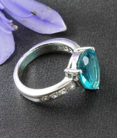 Aquamarine & Sterling Silver Ring - AU$55 (less 10% email signup discount) at Cybelle.com.au
