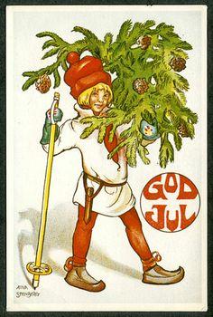 """God Jul"" .....Julkort artist, Aina Stenberg"