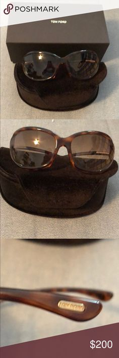d3423d3c7b759 Authentic TOM FORD Tortoise Sunglasses Like New! Jennifer style wrap  tortoise frame with brown tint
