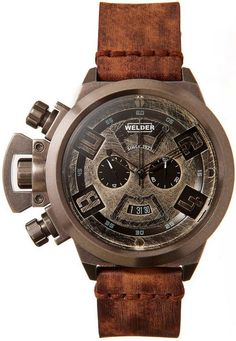 Welder is the creative label of Italo Fontana, the man credited with the resurrection of the U-Boat legacy. If you thought U-Boats were bold, Welders are completely off the wall. Welders have a distinct look and style: futuristic, industrial, and heavy. Amazing Watches, Beautiful Watches, Cool Watches, Watches For Men, Men's Watches, Stylish Watches, Pocket Watches, Casual Watches, Dream Watches
