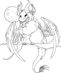 Fluffy Binding of Isaac Krampus coloring page! (it just wasn't colored, I'll call it a coloring page >P) by Tikara - Tumblr : Photo