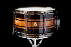 Fraser West signature series snare drum. 13x7 African Blackwood and Scottish Elm