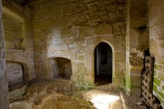 One of the rooms inside Bodiam Castle