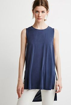 Contemporary Side-Slit Muscle Tee