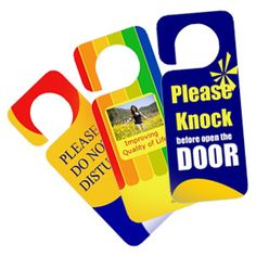 Know that you are working hard in their neighborhood with custom door hangers!