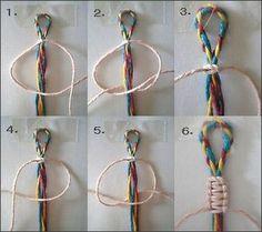 平結び 編み方7