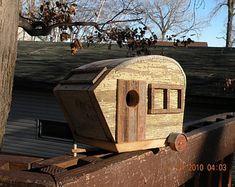 Vintage Birdhouse Camper 11 Inches Long