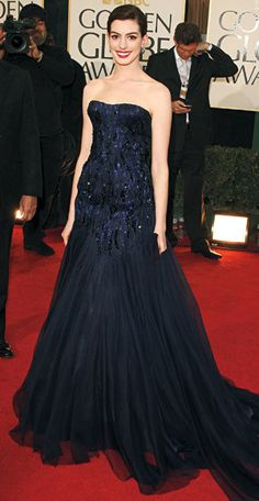 200 Celebrity Looks We Love - Anne Hathaway in Giorgio Armani Privé, 2009 from #InStyle